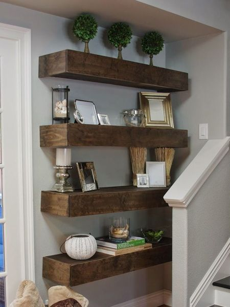 How To Make Chunky Floating Shelves Floating Shelves Floating Shelves Diy Floating Shelves Kitchen