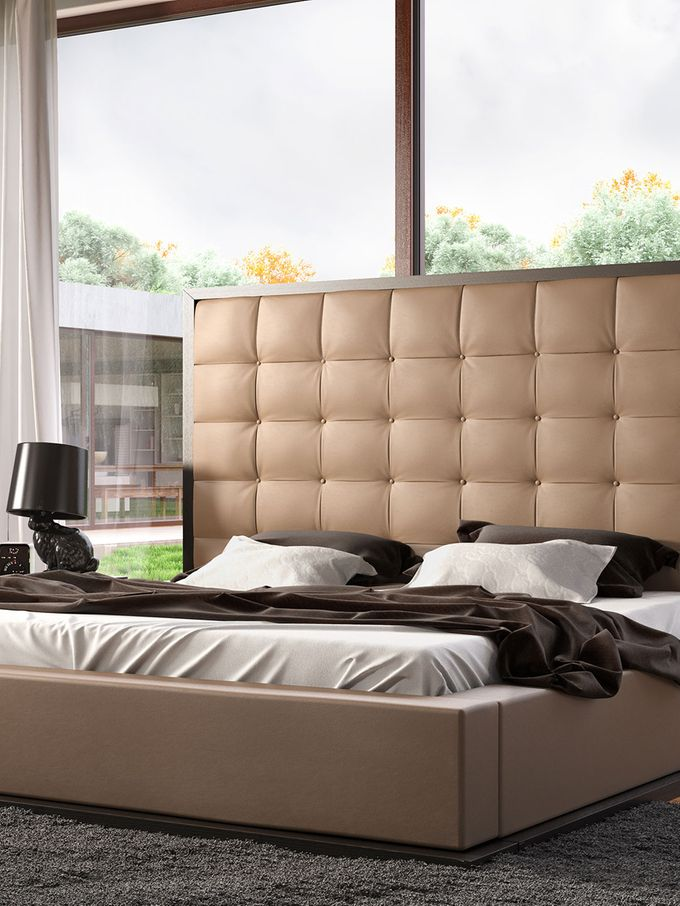 Ludlow Collection Bed in Taupe from Best Beds on Gilt