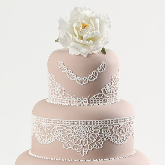 Try creating edible lace with Flexi-Ice and different lace moulds