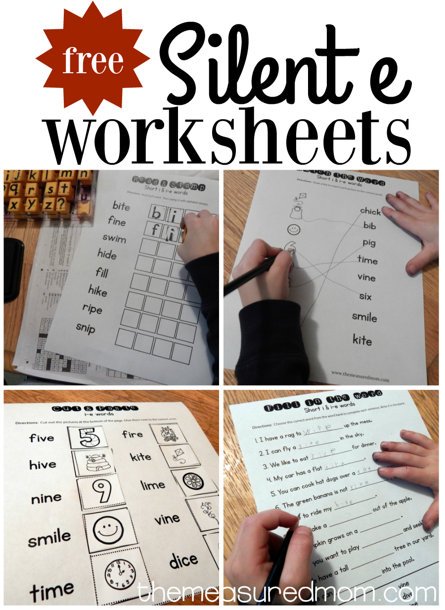 Worksheets For I E Words Cvce Words First Grade Phonics Phonics Activities [ 1233 x 900 Pixel ]