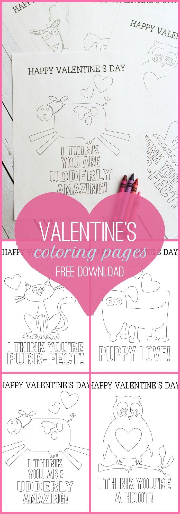 FREE Valentine\'s Day Coloring Pages on { lilluna.com } | Valentine\'s ...