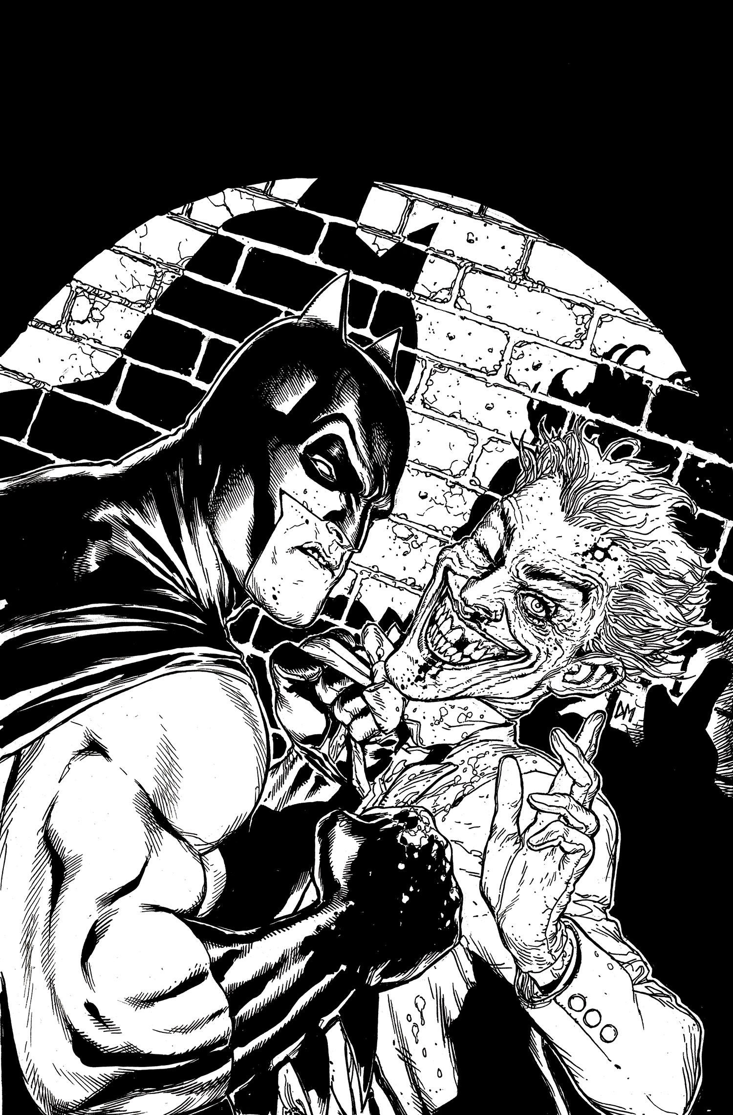 Dc Comic Black And White Art
