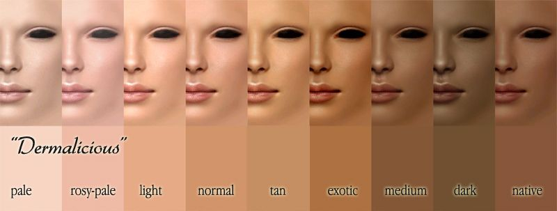 Ethnicity Bender Skin Tone Chart Skin Color Chart Skin Tones