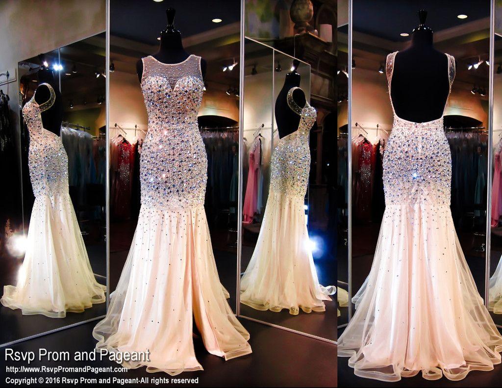 Mermaid Champagne Prom Dresses 2016