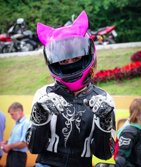 Cat Ear Motorcycle Helmets Pink motorcycle helmet