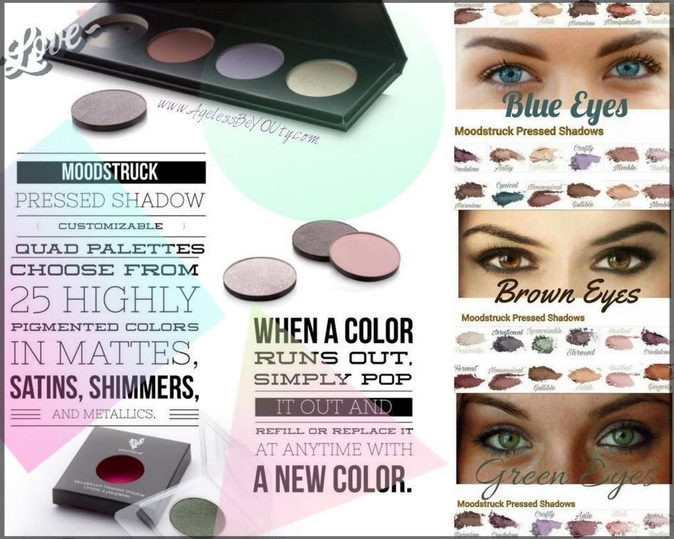 Moodstruck Pressed Shadows www.AgelessBeYOUty.com #younique #makeup #eyes #eyeshadow #youniquepressedshadows