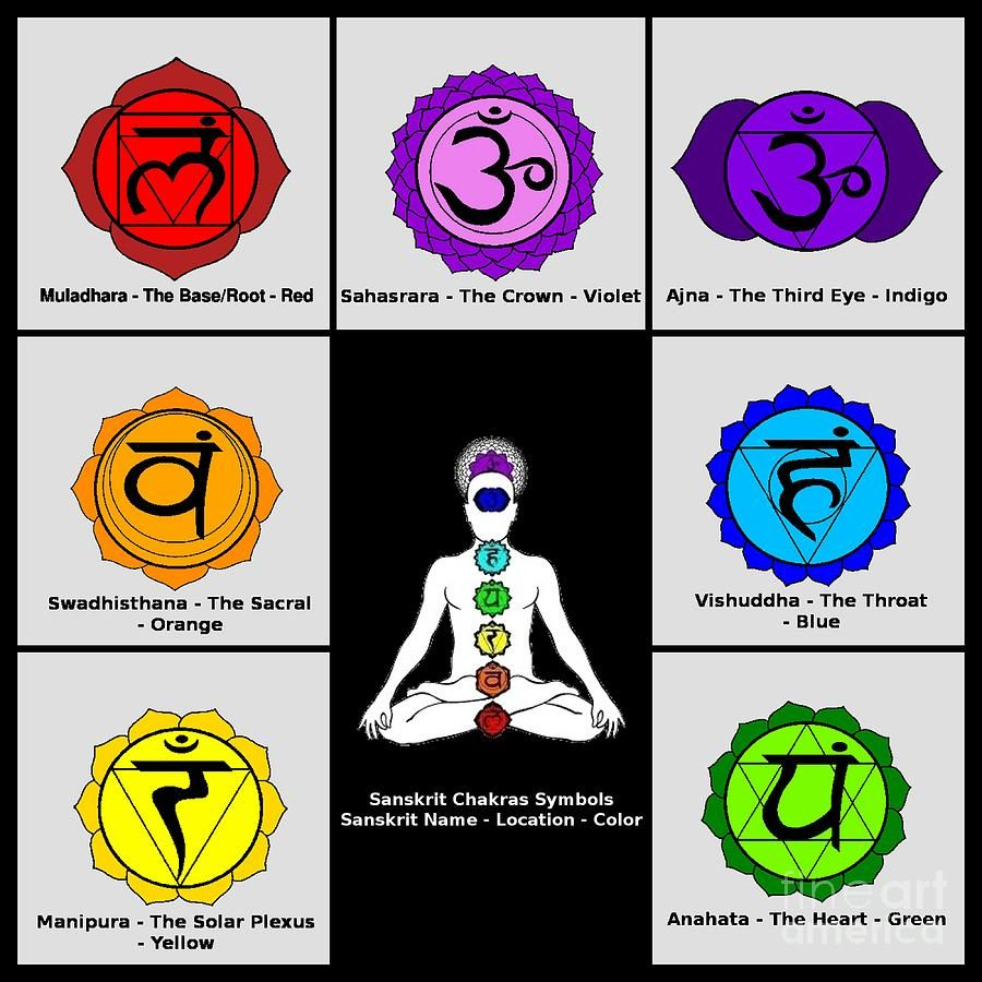 The Seven-Chakra: Their Sanskrit Names and the Color Co-ordinated ...