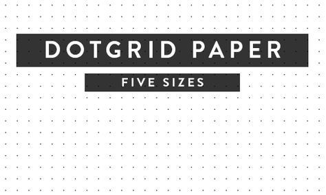 Printable Paper - Isometric, Notebook, Ruled, Dotgrid and More
