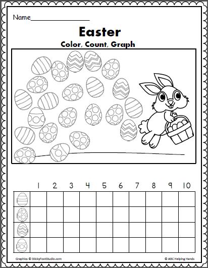 easter egg color count and graph math teacher ideas pinterest egg coloring. Black Bedroom Furniture Sets. Home Design Ideas
