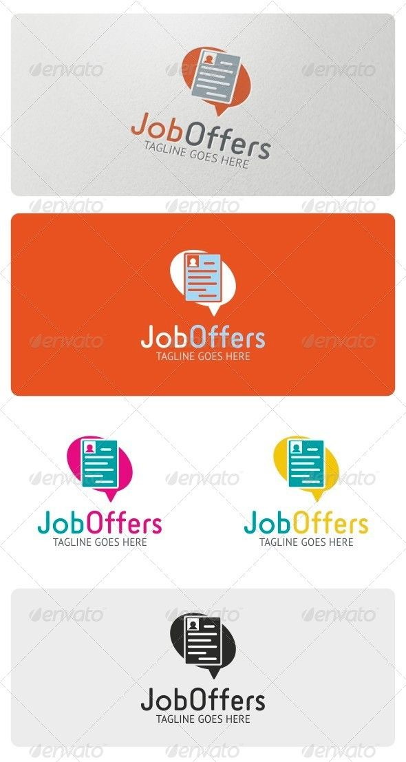 Job Offers Logo Template — Vector EPS #adviser #recruitment • Available here → https://graphicriver.net/item/job-offers-logo-template/4185836?ref=pxcr