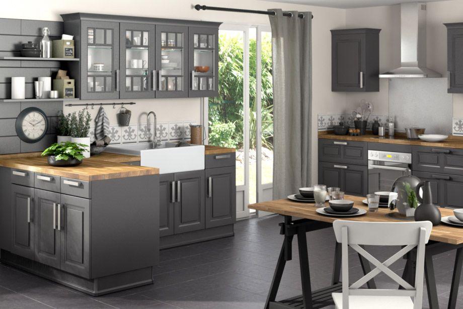 Cuisine Bistro - Lapeyre Maman maison Pinterest Cuisine, Black - comment accrocher un meuble de cuisine au mur