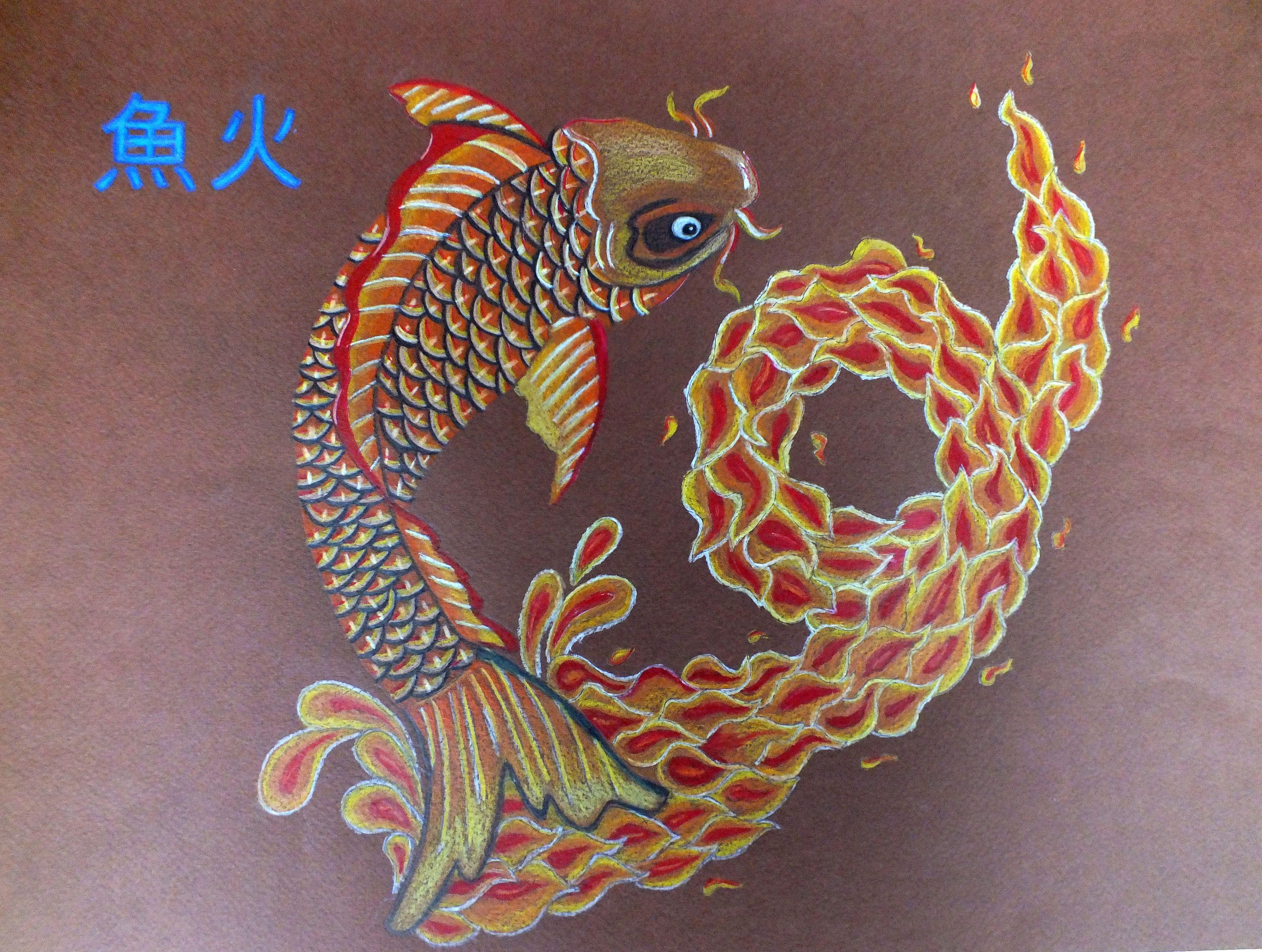 Minha carpa chinesa prontinha *----*