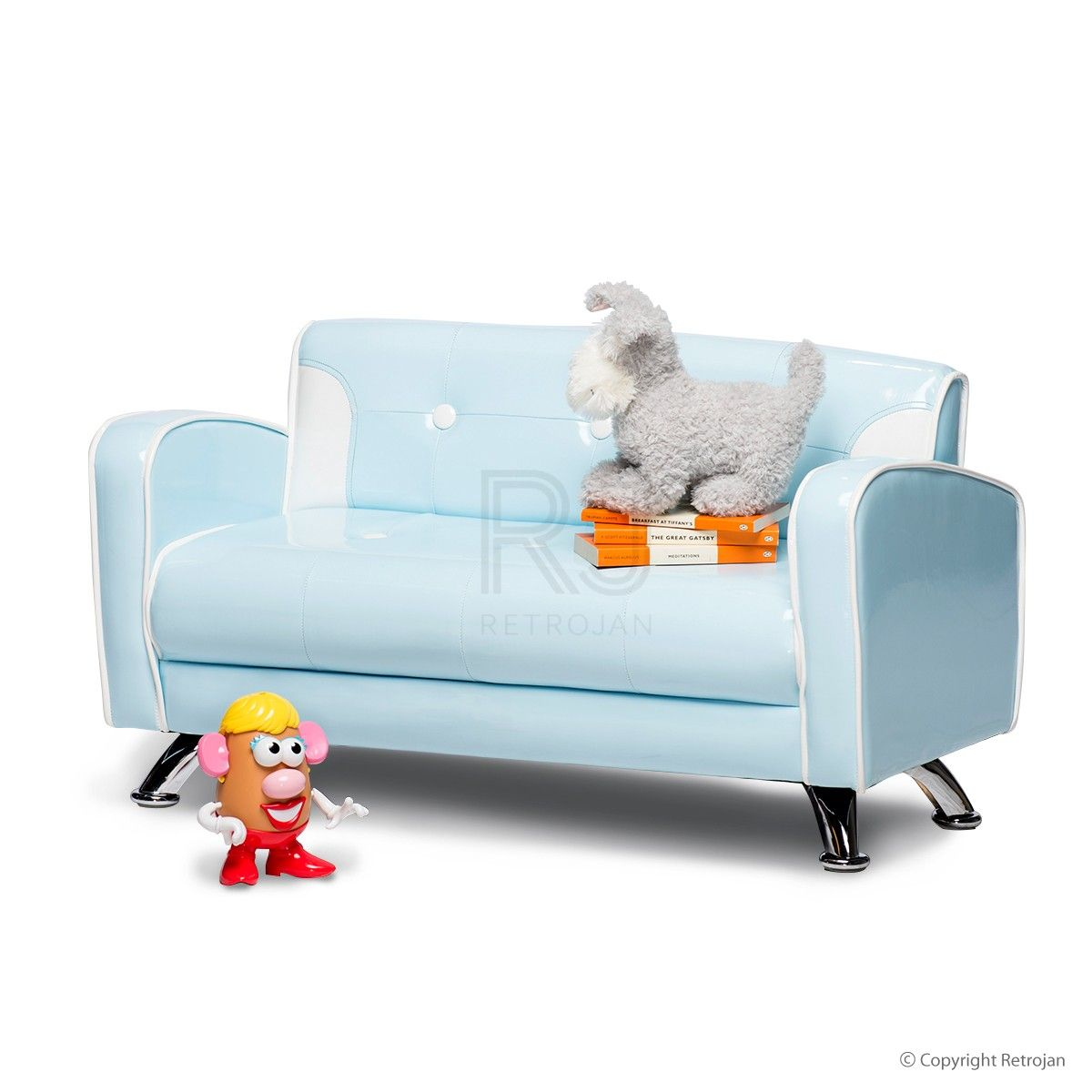 Buy Ginny Kids Sofa (Baby Blue) Online