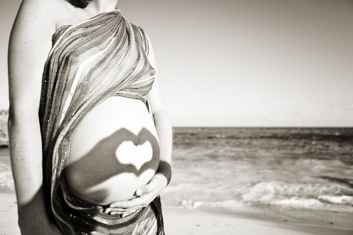 baby, beach, belly, heart, love