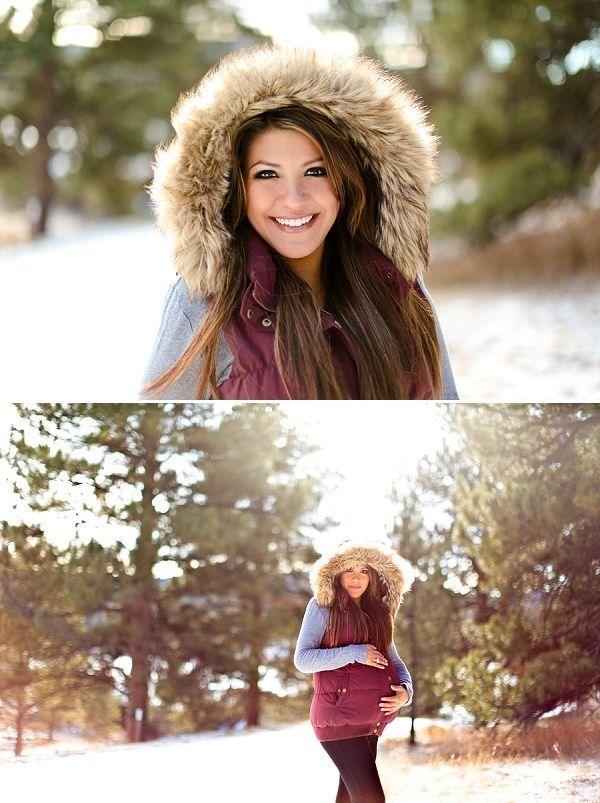 Winter Maternity Photo Shoot - Cute!