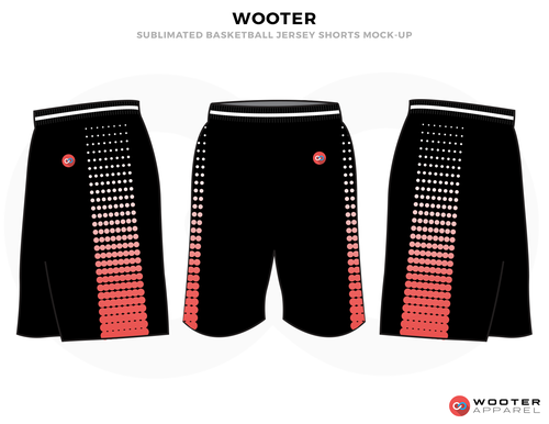 Wooter Black Pink And White Basketball Uniforms Shorts Basketball Uniforms Design Basketball Uniforms Jersey Design