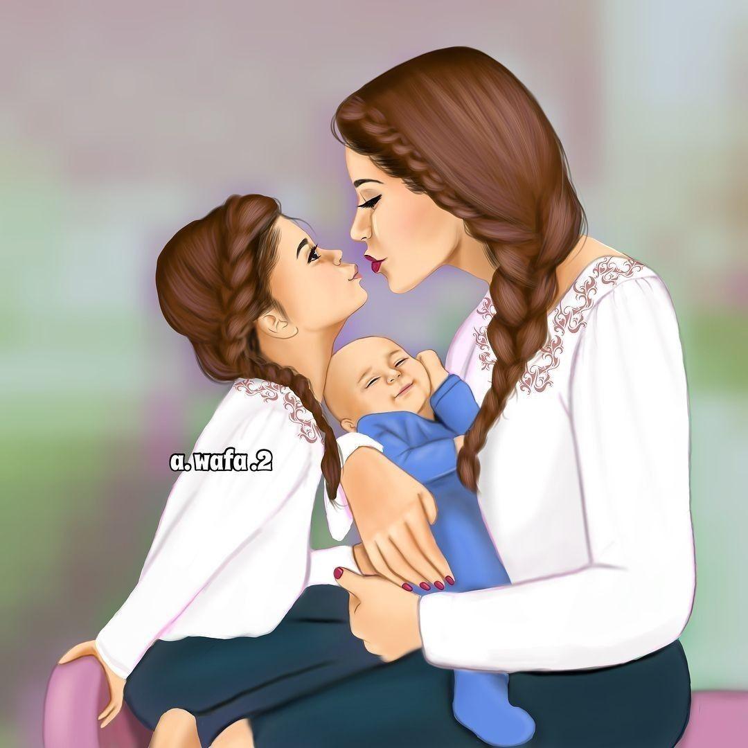Pin By Arantxa Romero On Art Mother Daughter Art Mother And Daughter Drawing Drawing Pictures For Kids