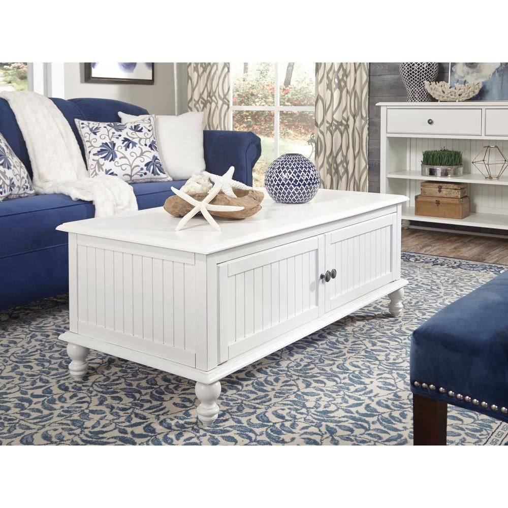 Cottage beach white 2door coffee table in 2019 home