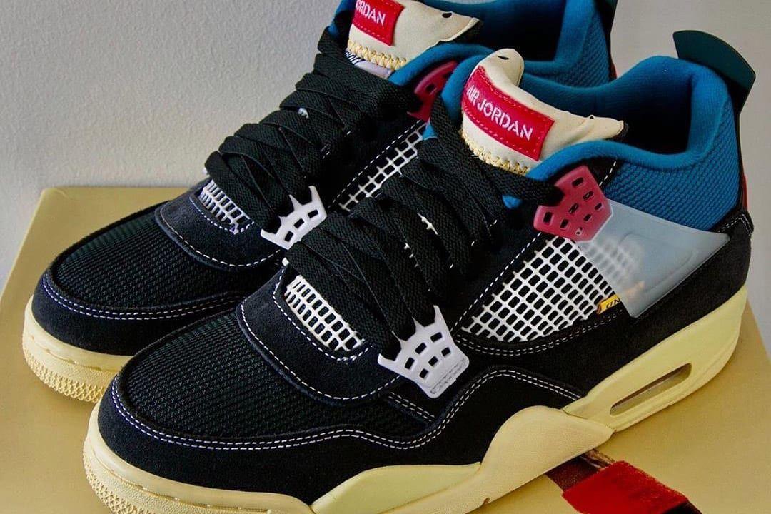 Tak Beda Wygladaly Union X Air Jordan 4 Retro Off Noir Mamy Dokladne Zdjecia Sneakers Sneakers Men Fashion Air Jordans