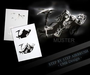 Airbrush Schablone Stencil Step By Step Tiger 2