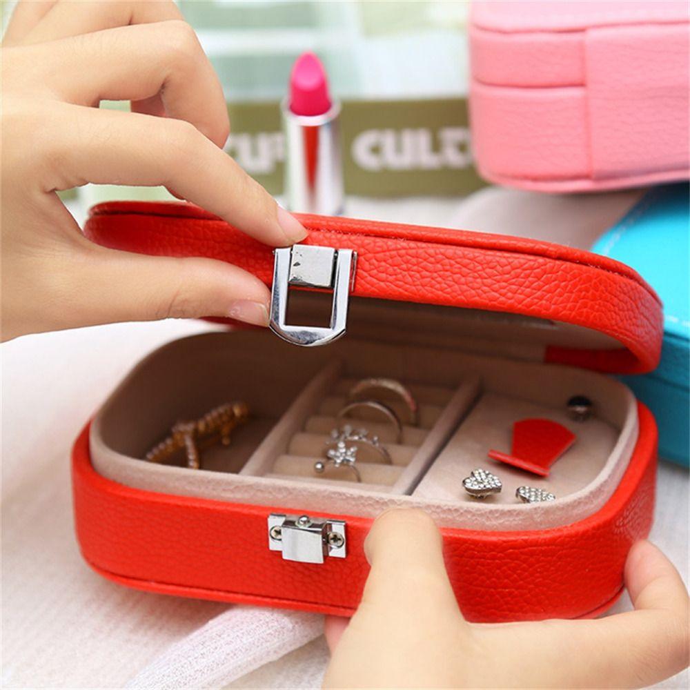 C$ 8.72 - 8.99 Pas cher Boîte à bijoux Organisateur Miroir ...