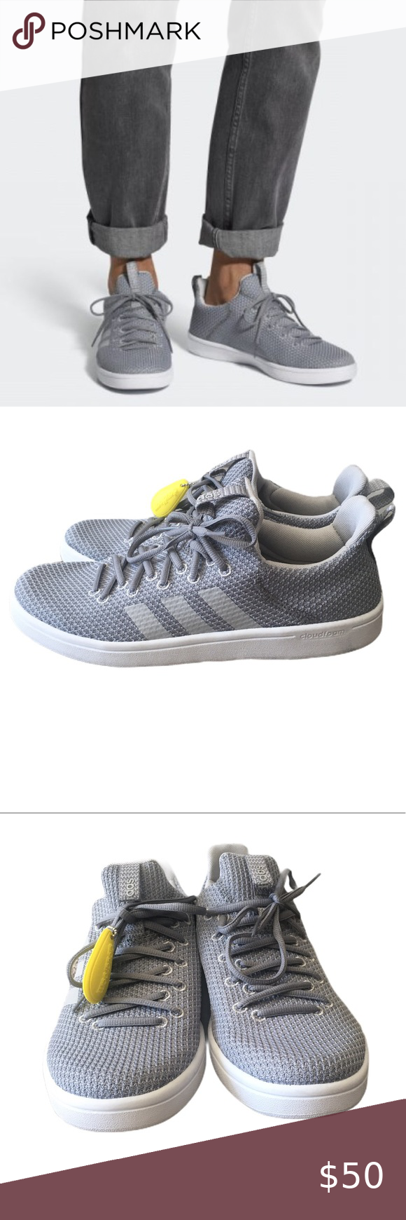 Adidas CloudFoam NWT Advantage Adapt Shoes Grey 8   Adidas ...