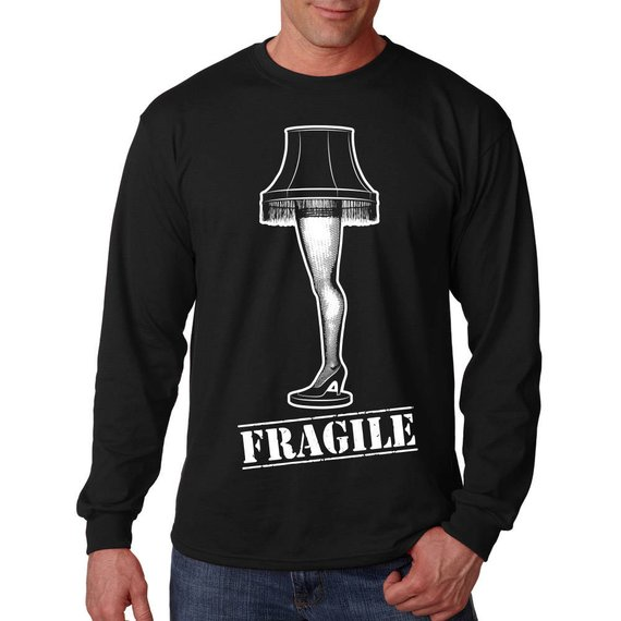 A Christmas Story Fragile Leg Lamp Long Sleeve Shirt - Funny Ugly
