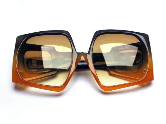 f9af492e914a Vintage 1970s CHRISTIAN DIOR women sunglasses by OPTYL, Rare & original  oversized shape, Space Age style, Brown plastic frame #christian #dior # vintage ...