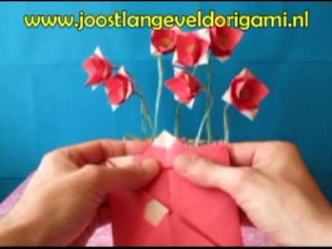 Cute origami flower youtube paper flowers pinterest origami cute origami flower youtube mightylinksfo