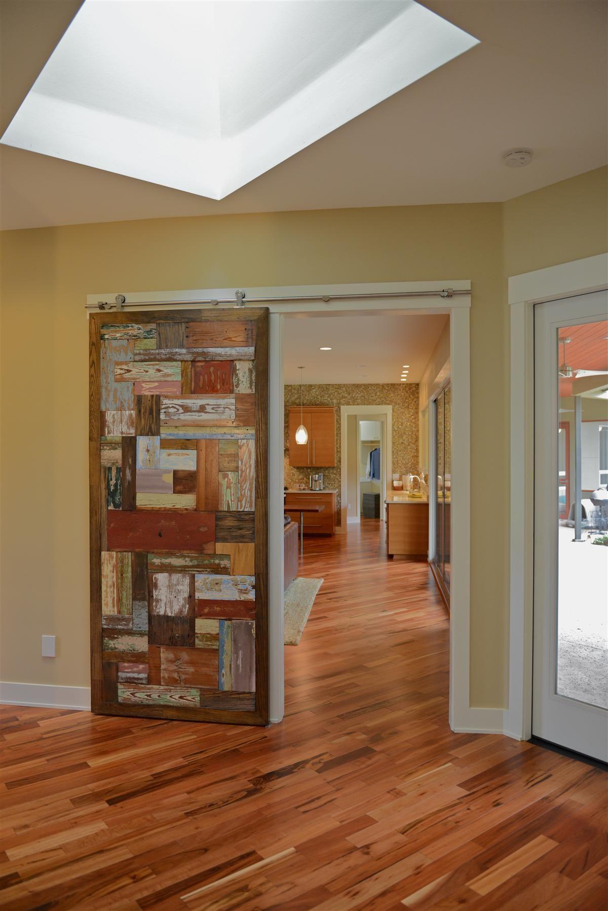 Modern Contemporary 3640: Reclaimed wood door