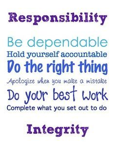 Image result for responsibility quotes for kids