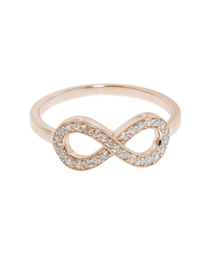 1439a9df6d NEW STERLING SILVER INFINITY DESIGN RING ROSE GOLD sz 6   Wish List ...