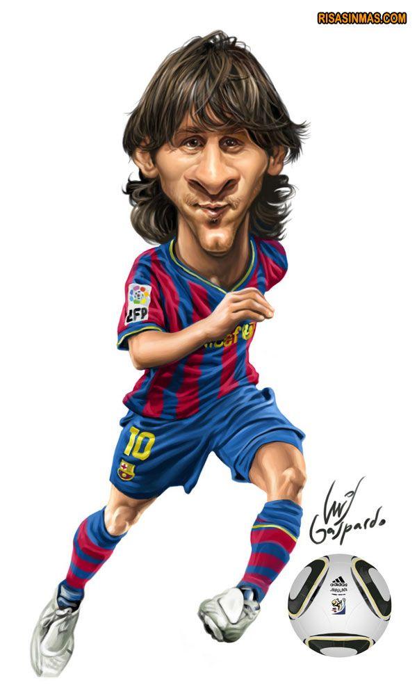Caricatura de Leo Messi   Risa Sin Más profilpemain.com                                                                                                                                                     Más