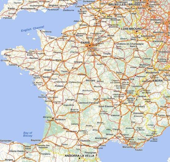 Carte De France France France France Www Frenchriviera Com