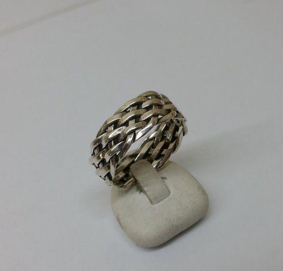 Ring Silber 925 Silberring geflochten selten SR666 von Schmuckbaron