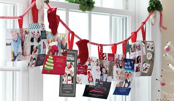 Christmas Card Display Idea Festive Window Garland Pinterest