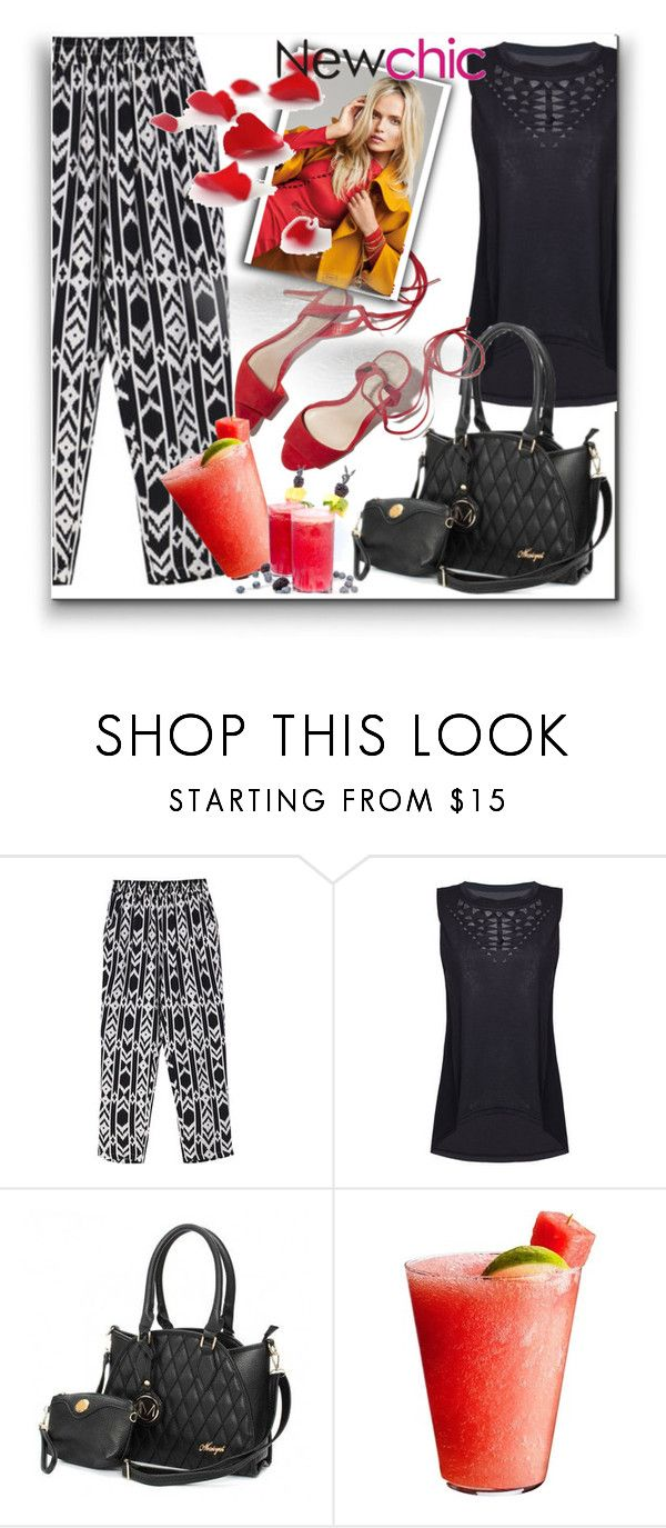 """Newchic"" by aaidaa ❤ liked on Polyvore featuring Loeffler Randall, Disney and lovenewchic"