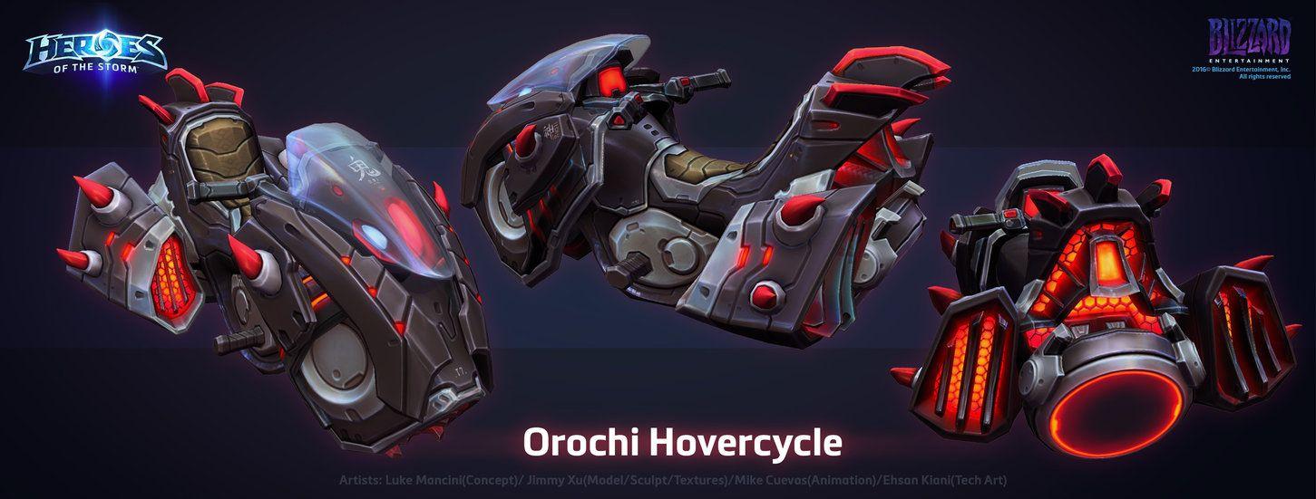 The Orochi Hovercycle by ArtDoge.deviantart.com on @DeviantArt