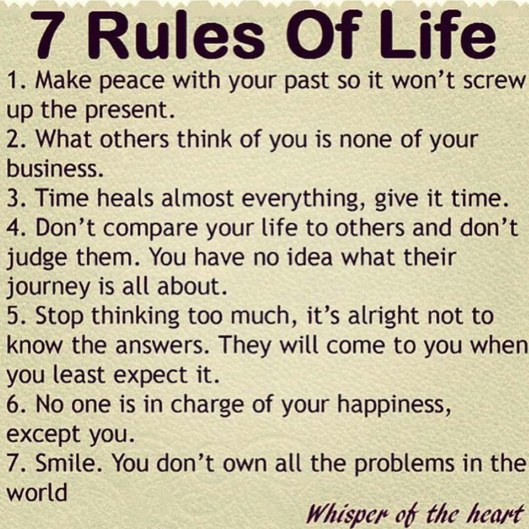 7 Rules Of Life Quote Pinsusie Su On Quotes  Pinterest  Motivational