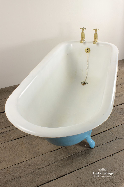 Reclaimed Blue Roll Top Bath | Bath Bits | Pinterest | Roll top bath ...
