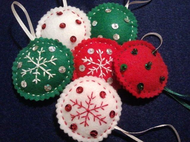 adornos para el arbol navidad felt pa o lency