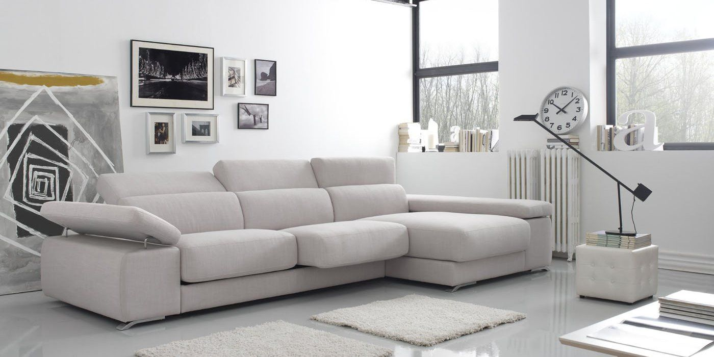 Sof con chaise longue modelo adagio de gamamobel m s for Sofa cama chaise longue piel
