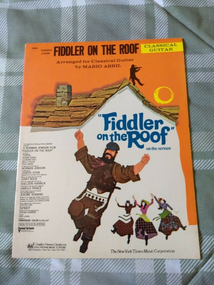 Fiddler On The Roof CLASSICAL GUITAR sheet music book 1975
