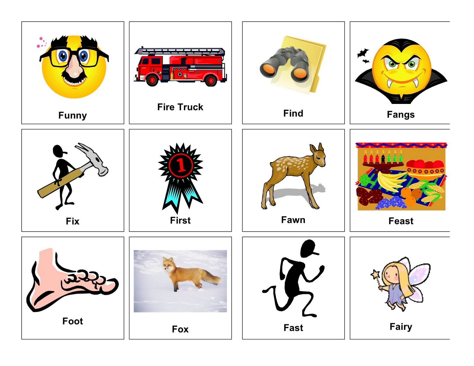 Medial k words with pictures clear speech therapy april 2011 medial k words with pictures clear speech therapy april 2011 sciox Images