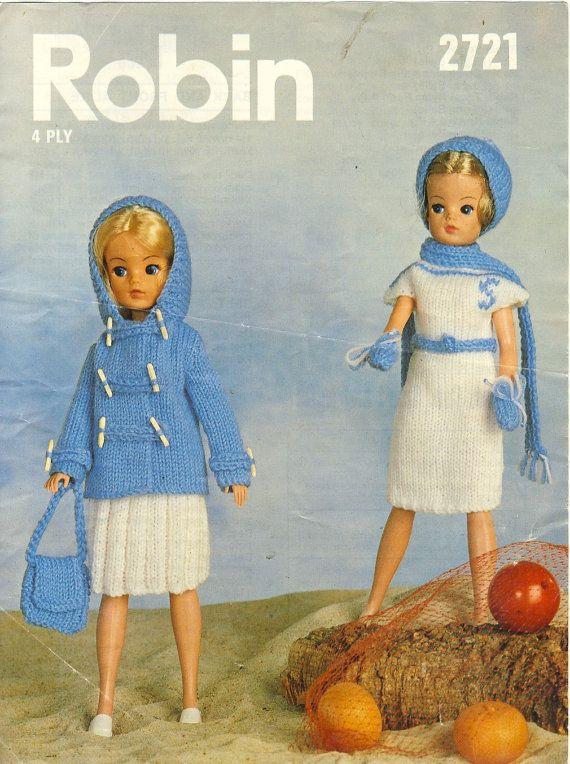 Robin 2721 Sindy Dolls Knitting Pattern 4 By Patternaliavintage
