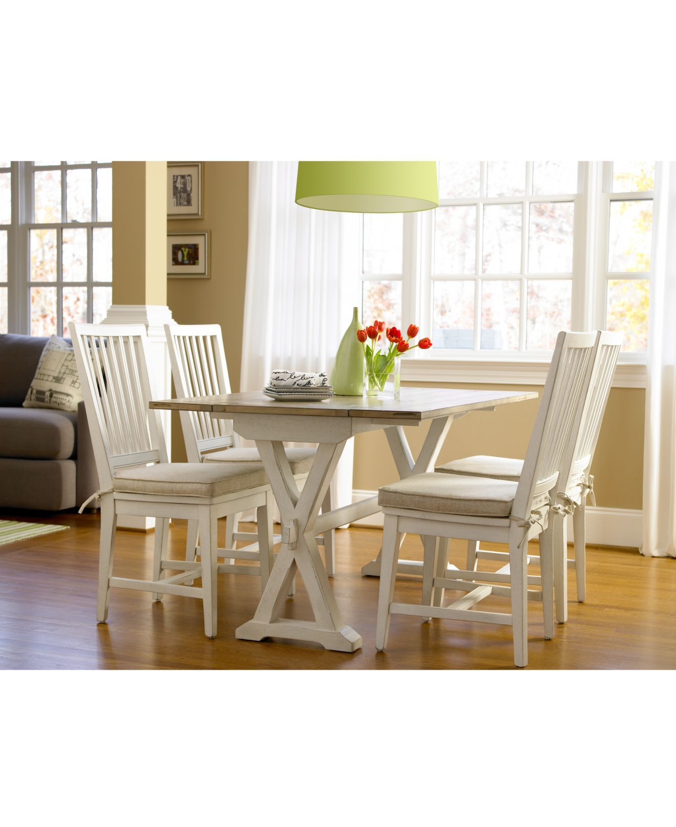 Light Airy and Rustic Casual Dining room Dining room