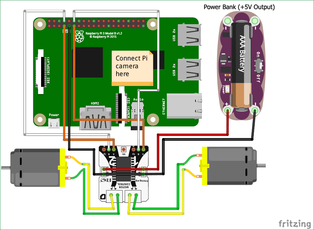 circuit diagram of raspberry pi ball follower robot using processing [ 1047 x 768 Pixel ]