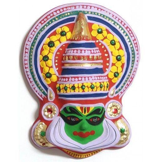 Buy Decorative Masks Online India Wall Decorative Kathakali Mask In Paper Mechhttpswwwshimply