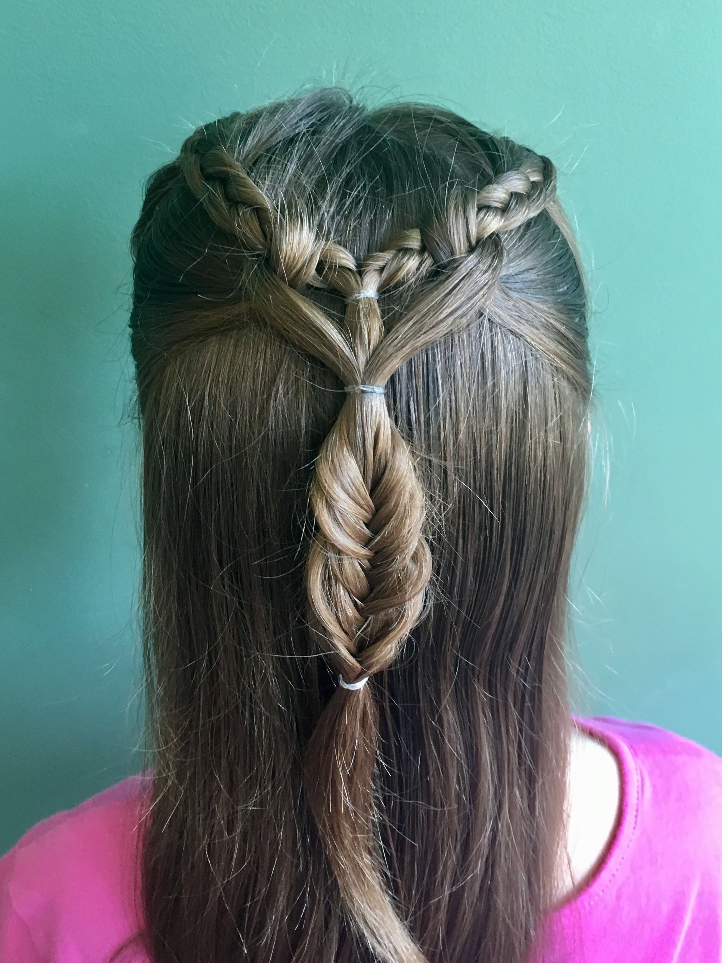 Heart Wrapped Dutch Braid Perfect For Growing Out Bangs Fringe