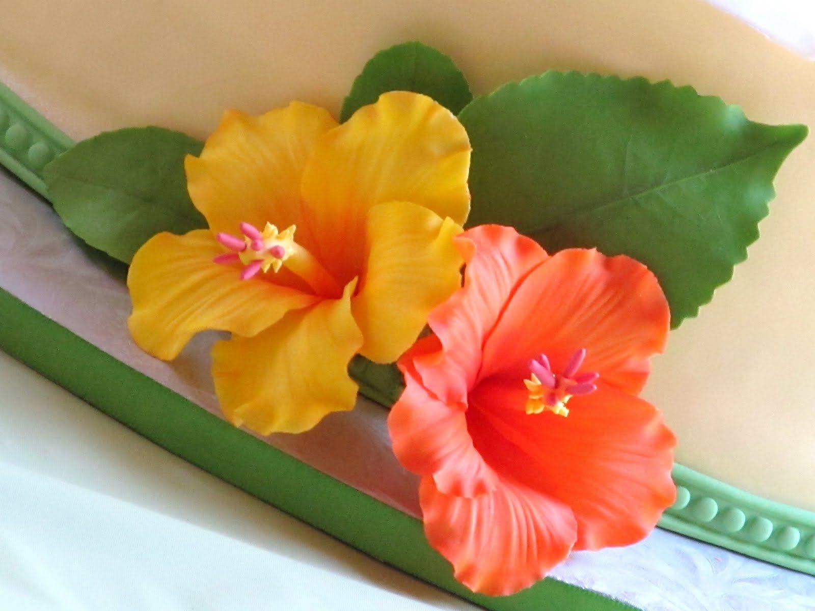 Gumpaste Hibiscus Video Tutorial Hibiscus Cake Fondant Flower Tutorial Cake Decorating Flowers